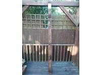 Timber 8foot 4x4 post x6 never been used