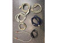 Sundry USB/printer cables - job lot