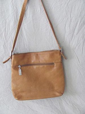 DAMEN Tignanello Carmel Braunes Leder Hobo Handtasche 27.9cmX 27.9cmX 7.6cm ()