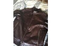 Hugo Boss 'Clifford' Calfskin Leather Jacket M
