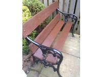 Ornate cast iron garden bench