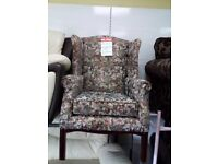 Exdisplay wingback chair