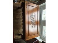 Wooden ornate coffee table used but good condition