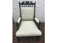 Vintage armchair , in good condition , with lovely fabric , feel free to view,