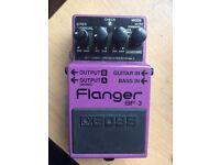 Boss flanger bf3 guitar separate pedal
