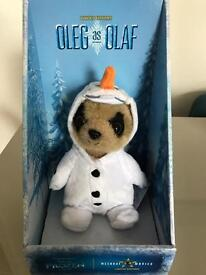 Brand New Limited Edition Compare the Meerkat Frozen Toy - Oleg as Olaf with certificate.