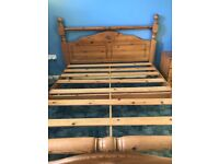 King size Wooden bed. Very good condition . With or without mattress.
