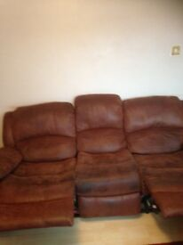 Reclining sofa.