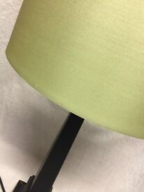 Laura Ashley Lamp with Green Silk Shade