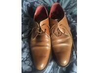"""Tan Shelly's """"Buick"""" Gibson Shoes Sz 8"""