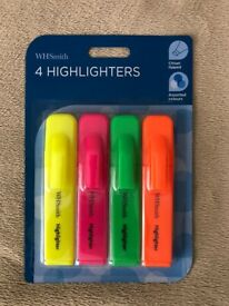 £1... Four highlighter pens