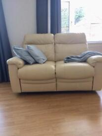 2x two Leather with manual recline