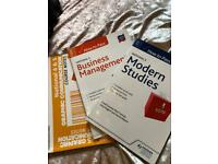 National 5 Modern Studies, National 5 Business, National 4 & 5 Graphic Communication Text books