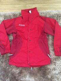 Red ladies waterproof coat