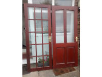 Used mahogany/glass internal doors.
