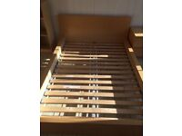 3 IKEA wooden double bed frames. All used but good condition.