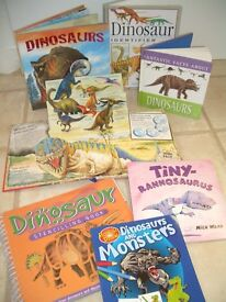 Dinosaur Book Bundle - 7 books - Excellent condition, books, how to draw, stencil dinosaurs £20 ono