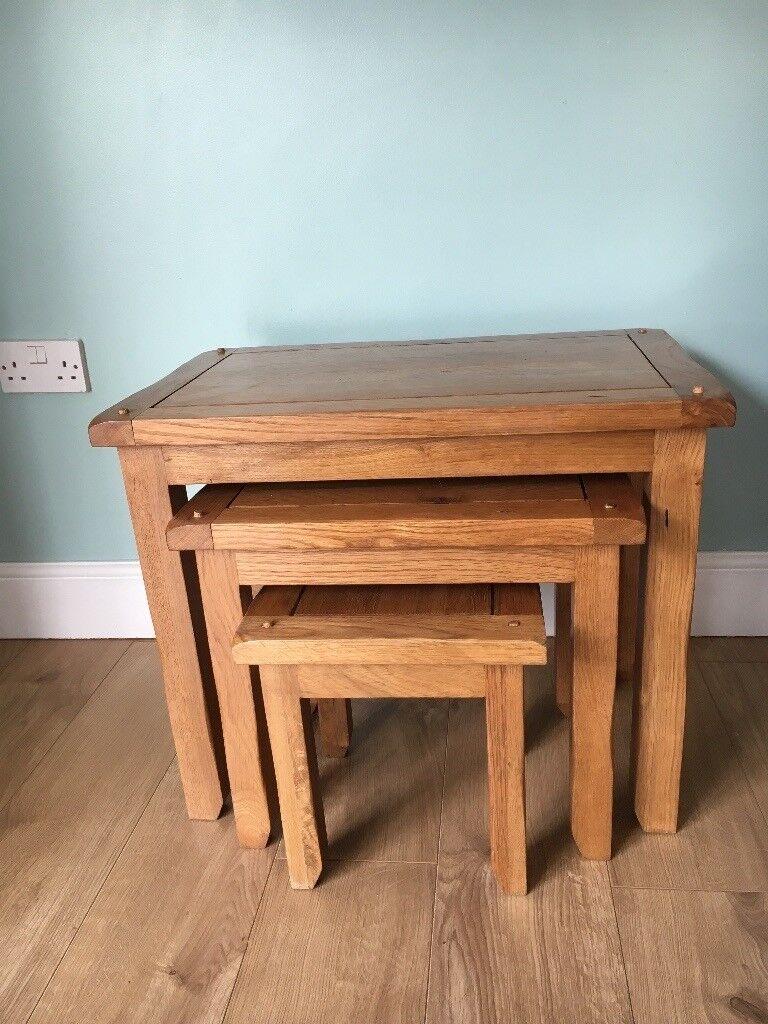 Rustic Oak Side Tables