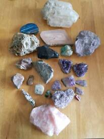 Various collectable rocks