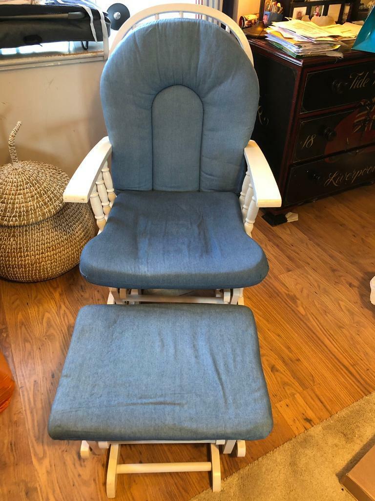 Nursery Tfeeding Feeding Glider Rocking Chair And Gliding Foot Rest