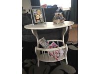 Shabby chic table / magazine rack worn/distressed look