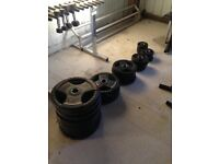 297.5KG Tri Grip Rubber Coated Olympic Weight Plates - Gym