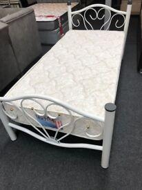 BRAND NEW METAL BED BASE FLORAL DESIGN - SINGLE £49