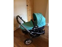 Mothercare Xpedior pram pushchair newborn to toddler forward and rear facing