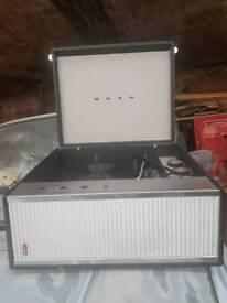 Vintage bush portable record player