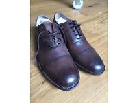 Unworn John Lewis brown oxford shoes