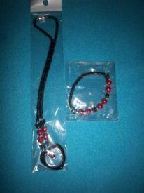 New Hematite Magnetic Necklace & Bracelet Set IP1