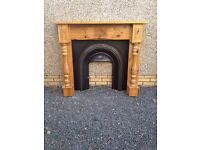 Solid Pine Fireplace