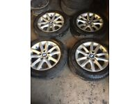 Genuine BMW 3 Series Set of Alloy Wheels and tyres 205 55 R16