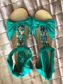 Ladies sandals size 7 bought in Spain Never worn