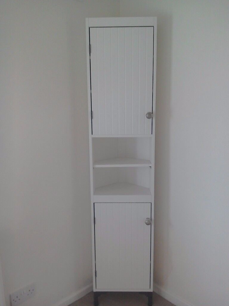 Give Away Price Silveran High Bathroom Cabinet With Doors From