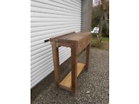 Vintage Carpenters Workbench Rustic Indistrial Kitchen Island Table