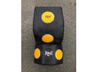 Everlast wall mounted heavy bag with 12oz and 16oz Adidas boxing gloves