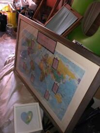 Massive very large plastic and wooden frame