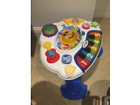 Baby play table-sit to stand entertainment centre