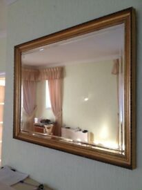 Gold Rimmed Bevilled Mirror