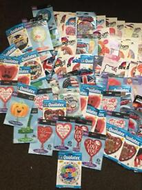 Over 350 various foil balloons plus extras !!