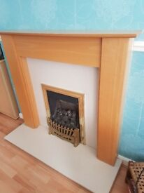 Gas Fire with with hearth and surround