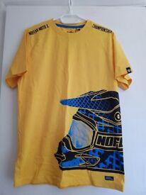 t shirt mens yellow, small