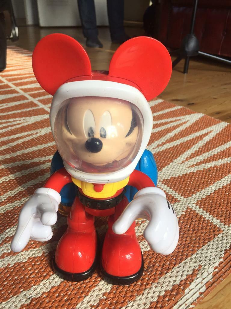 "DISNEY Fisher-Price Mickey Mouse SPACEMAN Mickey 10"" Chunky figure w/sound £8"