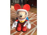 """DISNEY Fisher-Price Mickey Mouse SPACEMAN Mickey 10"""" Chunky figure w/sound £8"""