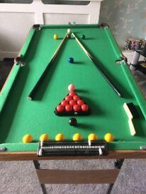 Kids Pool/ Snooker Table
