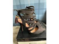 Miss KG black suede heels size 6