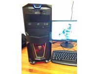 14 Available. 1 Year Warranty Gaming PC Computer with Office, choice of Red, Green or Purple Lights