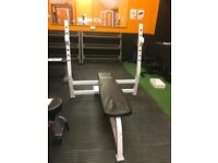Active Life Olympic Bench Press with Spotter Plates - Weights Gym