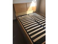King Size Chunky Wooden Bed In An Oak Finish
